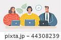 PC ノートパソコン 人々のイラスト 44308239