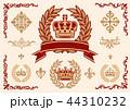 王冠、月桂樹、飾りセット, ベクター 44310232