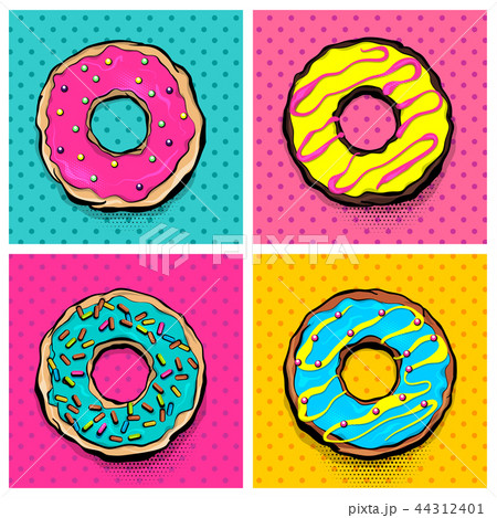 Doughnut donut cartoon pop art 44312401