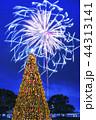 クリスマスツリー クリスマス 花火の写真 44313141