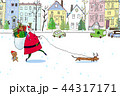 クリスマス サンタクロース 犬のイラスト 44317171