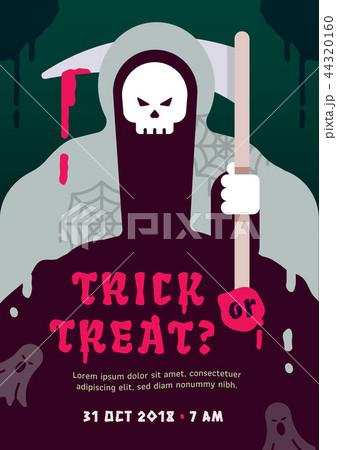 halloween party poster templateのイラスト素材 44320160 pixta