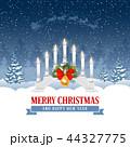 クリスマス メリー バックグラウンドのイラスト 44327775