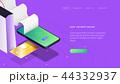 クレジットカード スマートフォン 携帯電話のイラスト 44332937