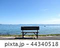 琵琶湖湖畔 ベンチ 湖畔の写真 44340518