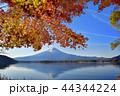秋 朝 紅葉の写真 44344224