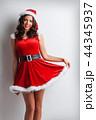 クリスマス サンタ サンタクロースの写真 44345937