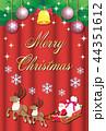 クリスマス メリークリスマス サンタクロースのイラスト 44351612