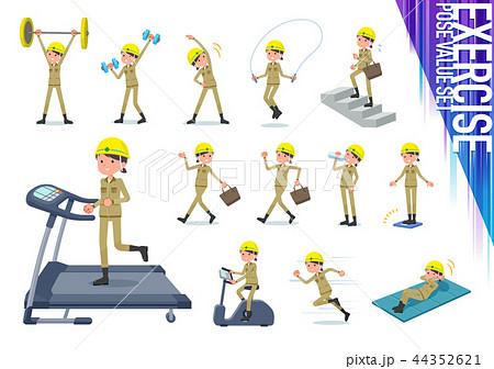 flat type helmet worker women_exercise 44352621