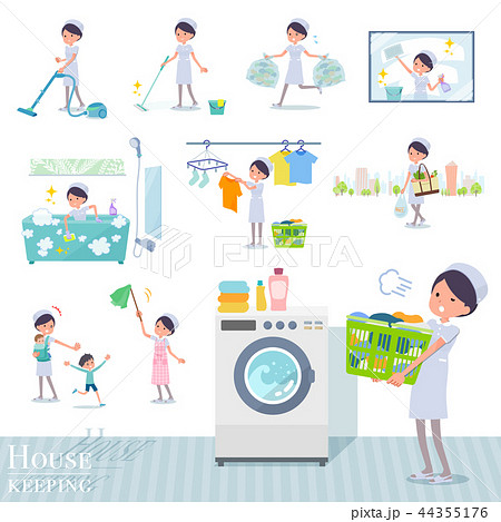 flat type Nurse women_housekeeping 44355176