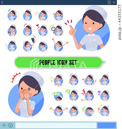 flat type Nurse women_icon 44355177