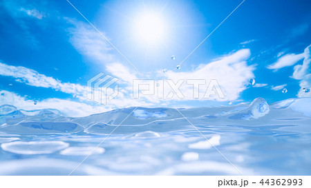 Water sunlight and blue sky background 44362993