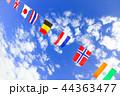 運動会の万国旗 44363477