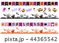 ハロウィン 飾り罫線 01 44365542