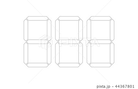 digital price tag vector template numbersのイラスト素材 44367801