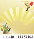 正月 門松 扇のイラスト 44373408