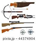 狩猟 銃 ガンのイラスト 44374904