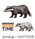 アナグマ 狩り 狩のイラスト 44375556