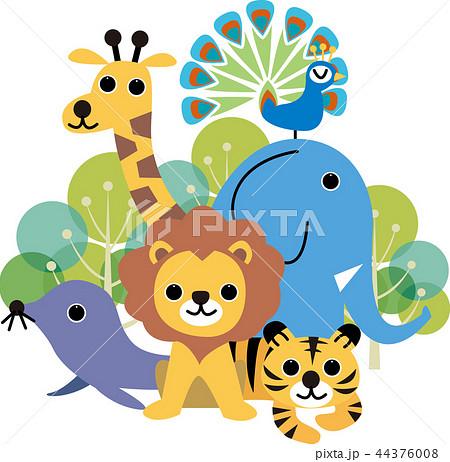 かわいい動物たち 44376008