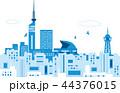 爽やかな福岡の街並 44376015