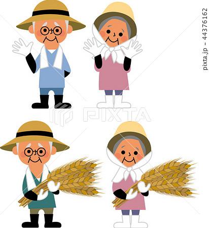 農家の老夫婦 44376162
