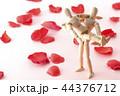 バラの花びらとお姫様抱っこ 44376712