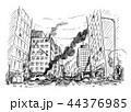 街 都市 建物のイラスト 44376985