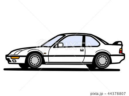 懐かしめ国産クーペ 白色 自動車イラスト 44378807