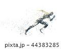 スポーツ 陸上 走るのイラスト 44383285