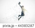 バスケットボール バスケ バスケットのイラスト 44383287