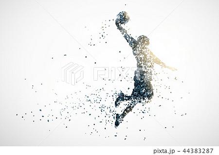 basketball abstract silhouette 1 vector ver. 44383287