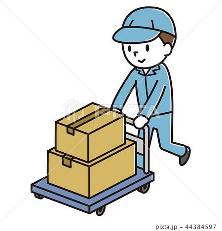 荷物を運ぶ男性 44384597