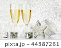 シャンパン シャンペン クリスマスの写真 44387261