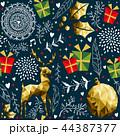 クリスマス パターン 柄のイラスト 44387377