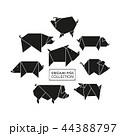 ぶた ブタ 豚のイラスト 44388797