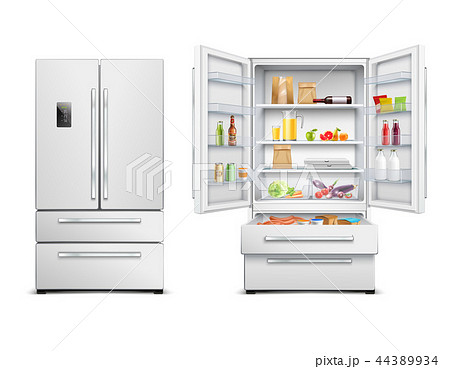 Realistic Refrigerator Cabinet Collection 44389934
