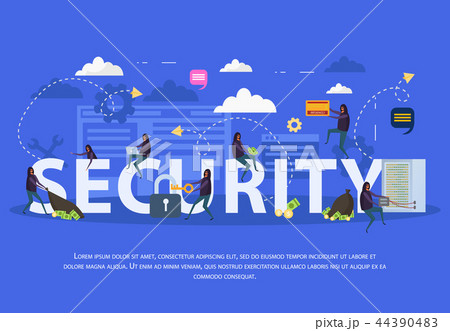 Cyber Security Flat Composition 44390483
