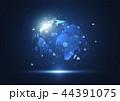 ネットワーク 通信 グローバルのイラスト 44391075