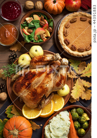 Thanksgiving Turkey Dinner with All the Sides 44391883