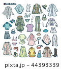 女性の洋服のイラスト 44393339