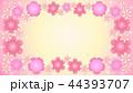 花のフレーム・ピンク1 44393707