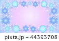 花のフレーム・青1 44393708