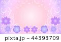 花のフレーム・紫2 44393709