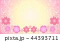 花のフレーム・ピンク2 44393711