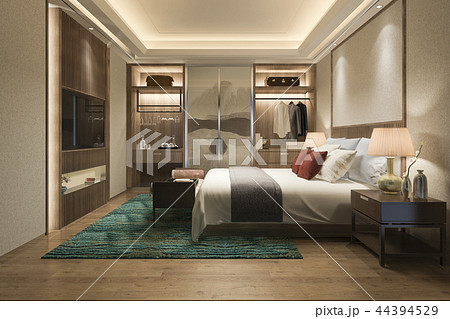 modern bedroom suite tv with wardrobe  44394529