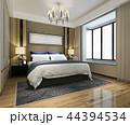 ベッド ベッドルーム 寝室のイラスト 44394534