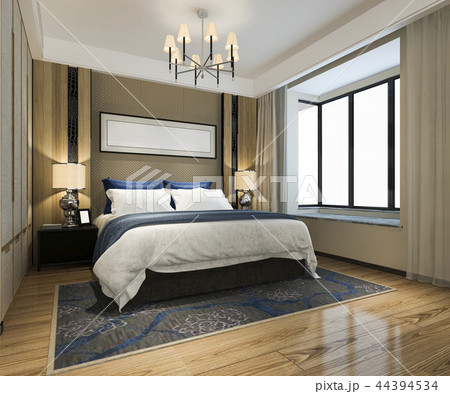 beautiful luxury bedroom suite in hotel with tv 44394534