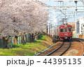 桜満開の阪急電鉄 44395135