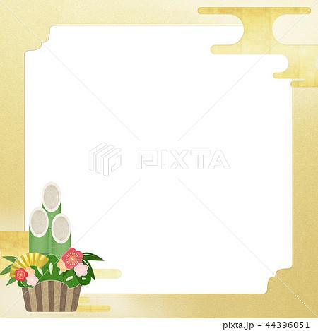 和-和風-和柄-和紙-背景-門松-金箔-正月 44396051