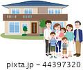 二世帯住宅 家族 三世代家族のイラスト 44397320